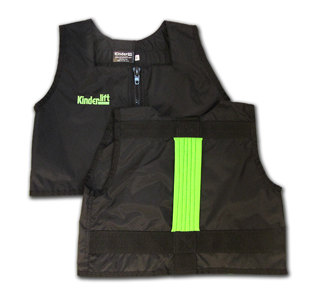 black and green Kinderlift vest