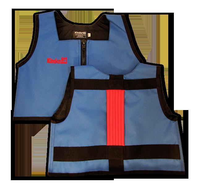 blue and red Kinderlift vest