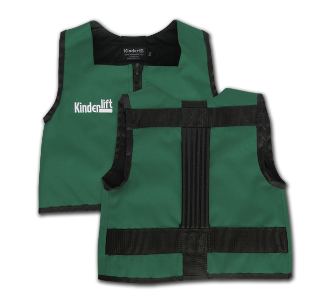 dark green and black Kinderlift vest