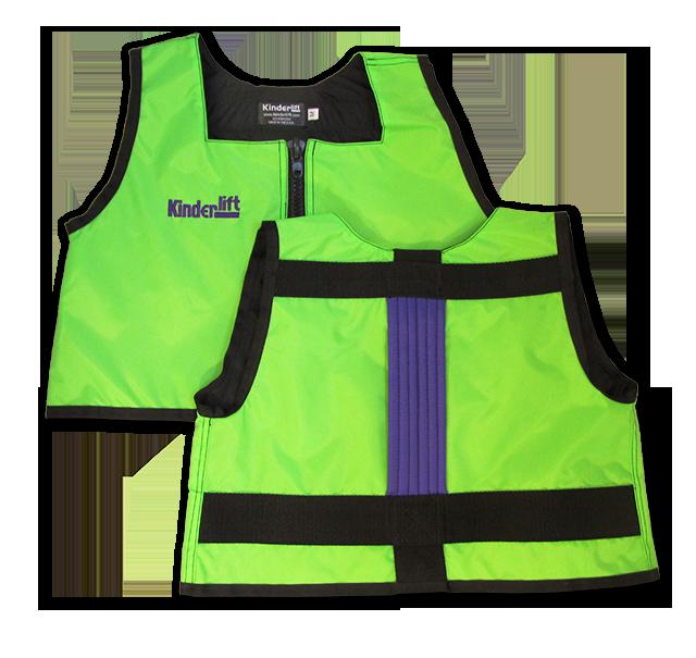 green and purple Kinderlift vest