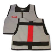 Silver and Red Kinderlift Vest