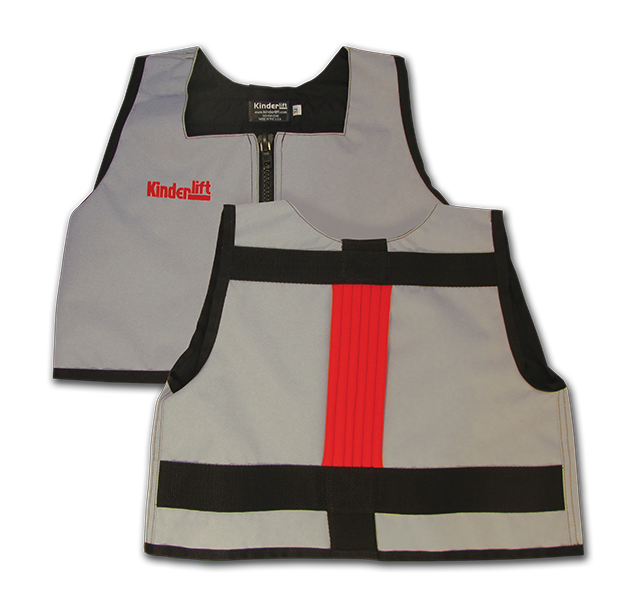 grey and red Kinderlift vest