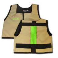 Khaki and Lime Green Kinderlift Vest