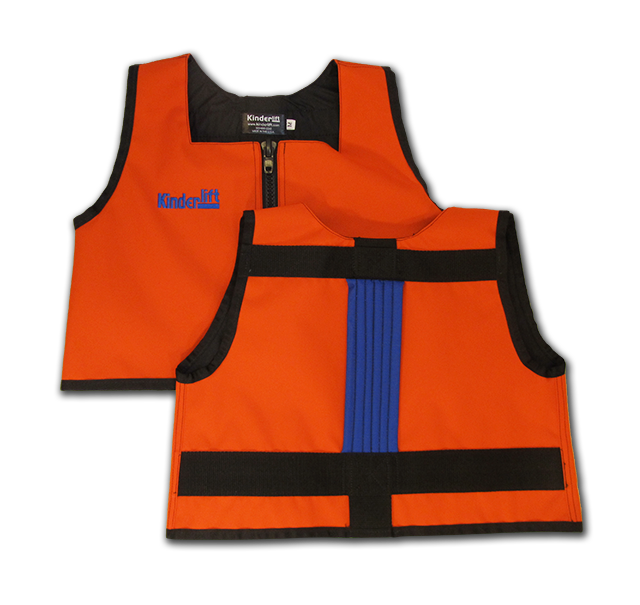orange and blue Kinderlift vest