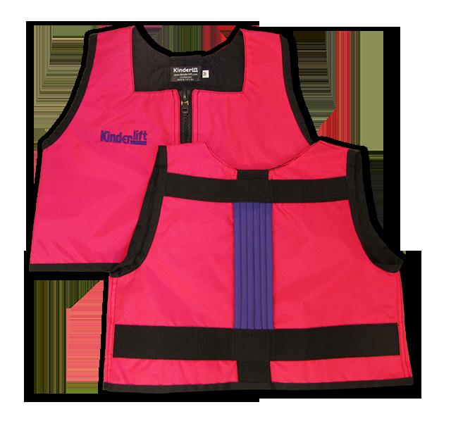 pink and purple Kinderlift vest