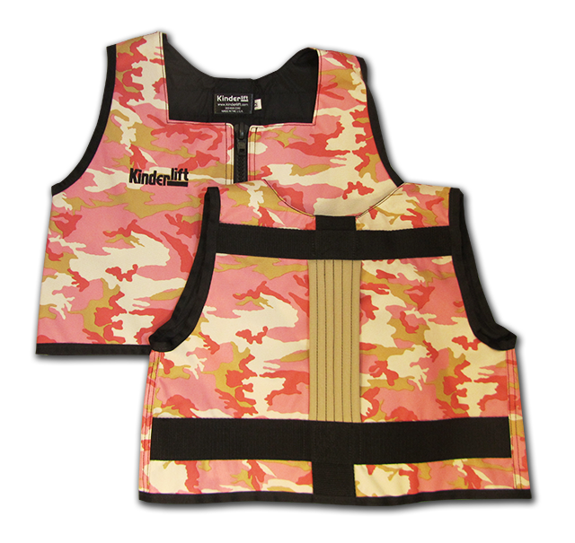 pink camo and khaki Kinderlift vest