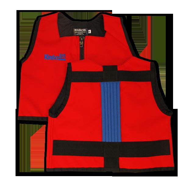 red and blue Kinderlift vest