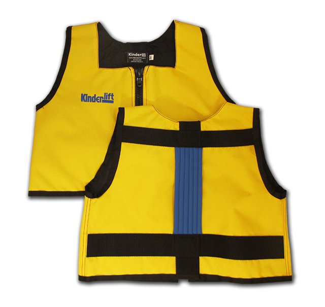 yellow and grey Kinderlift vest
