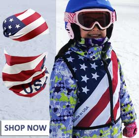 usa theme kids ski vest